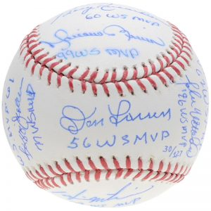 yankees world series MVP autographed baseball limited edition
