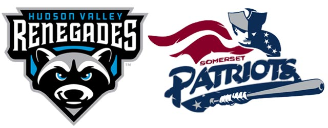 logos of the Hudson Valley Renegades and Somerset Patriots - New York Yankees minor league affiliate teams