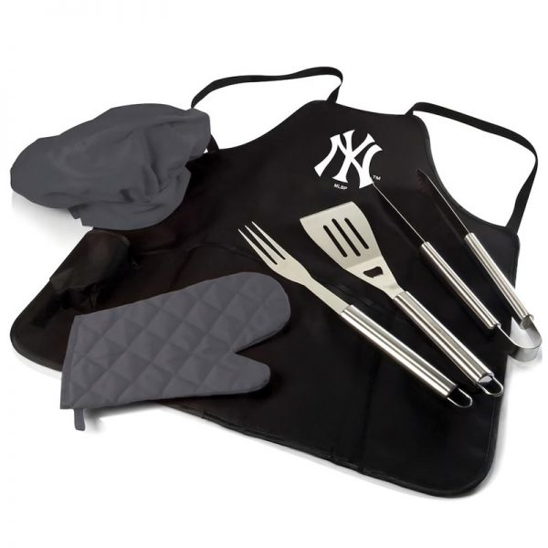 yankees BBQ apron and pro grill set