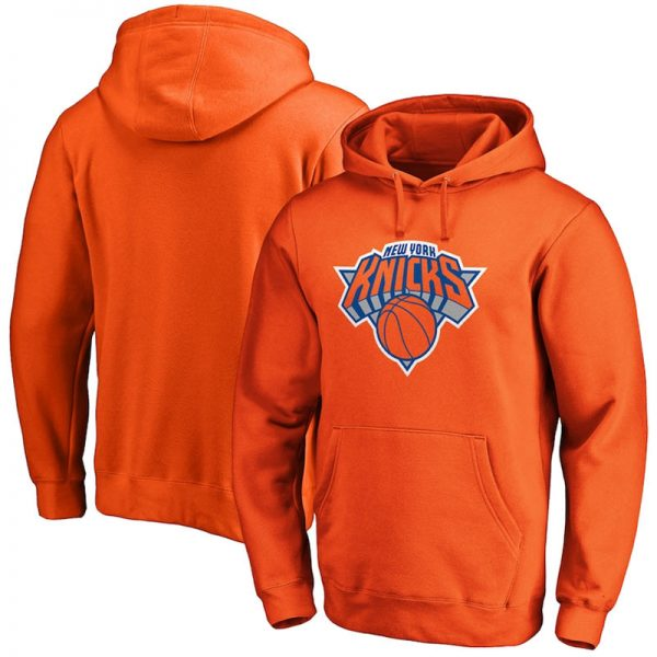 Orange pullover hoodie New York Knicks