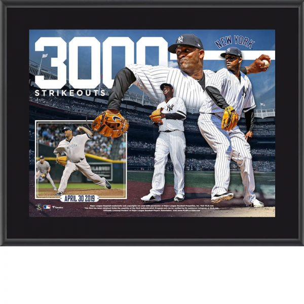 CC Sabathia 3,000th strikeout plaque