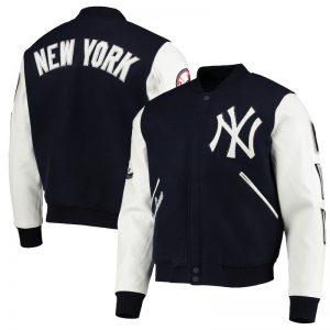yankees varsity jacket with full zipper