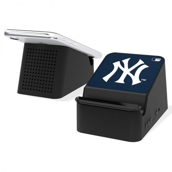 yankees wireless charging station and bluetooth speaker