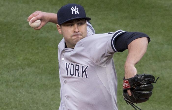 New York Yankees pitcher Nick Goody