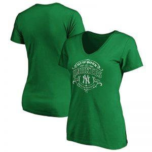 yankees tullamore v-neck t-shirt for women st. patricks day