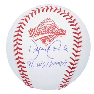 yankees david cone signed 1996 world series logo baseball