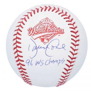 yankees david cone signed 1996 world series logo baseball