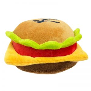 yankees cheeseburger toy for dogs