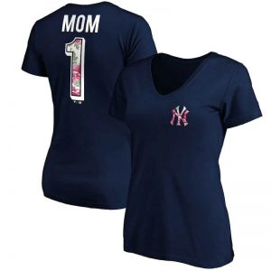 yankees v-neck t-shirt for Mother's Day